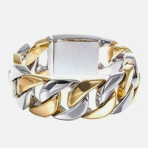 gold silver bracelet